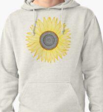 Golden Mandala Sunflower Pullover Hoodie