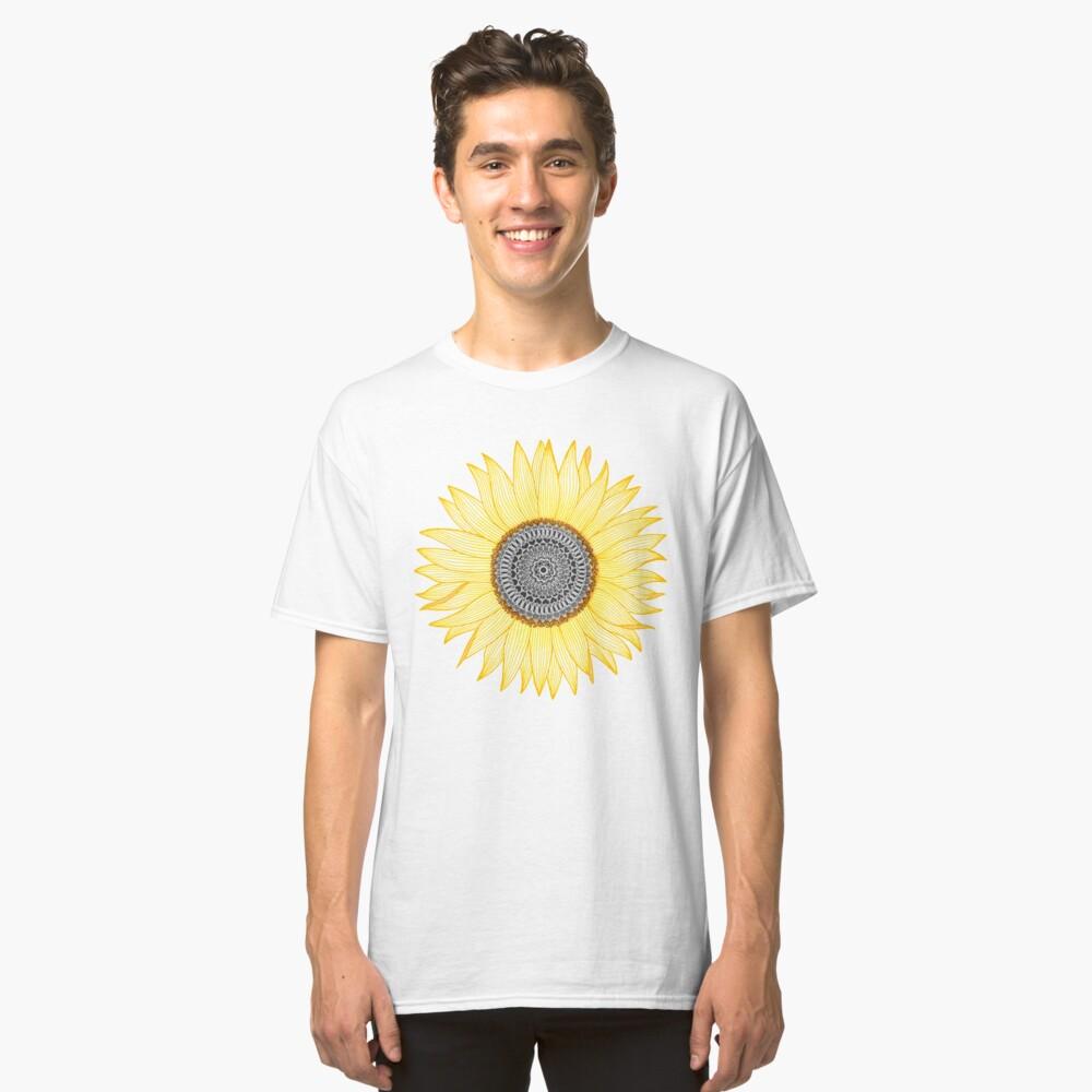 Golden Mandala Sunflower Classic T-Shirt