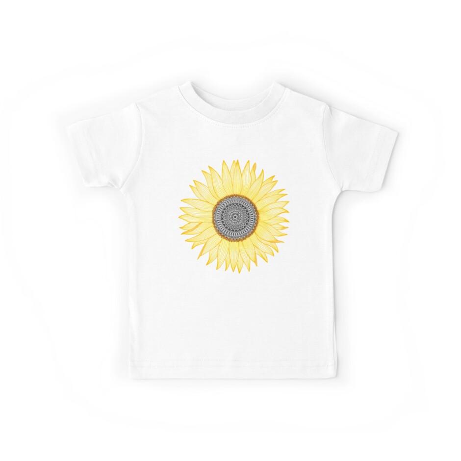 Goldene Mandala-Sonnenblume von paviash