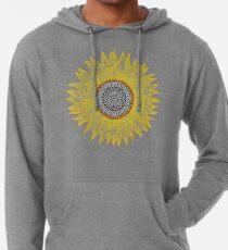 Goldene Mandala-Sonnenblume Leichter Hoodie