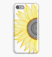 Golden Mandala Sunflower iPhone Case/Skin