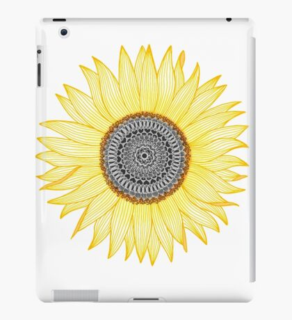Golden Mandala Sunflower iPad Case/Skin