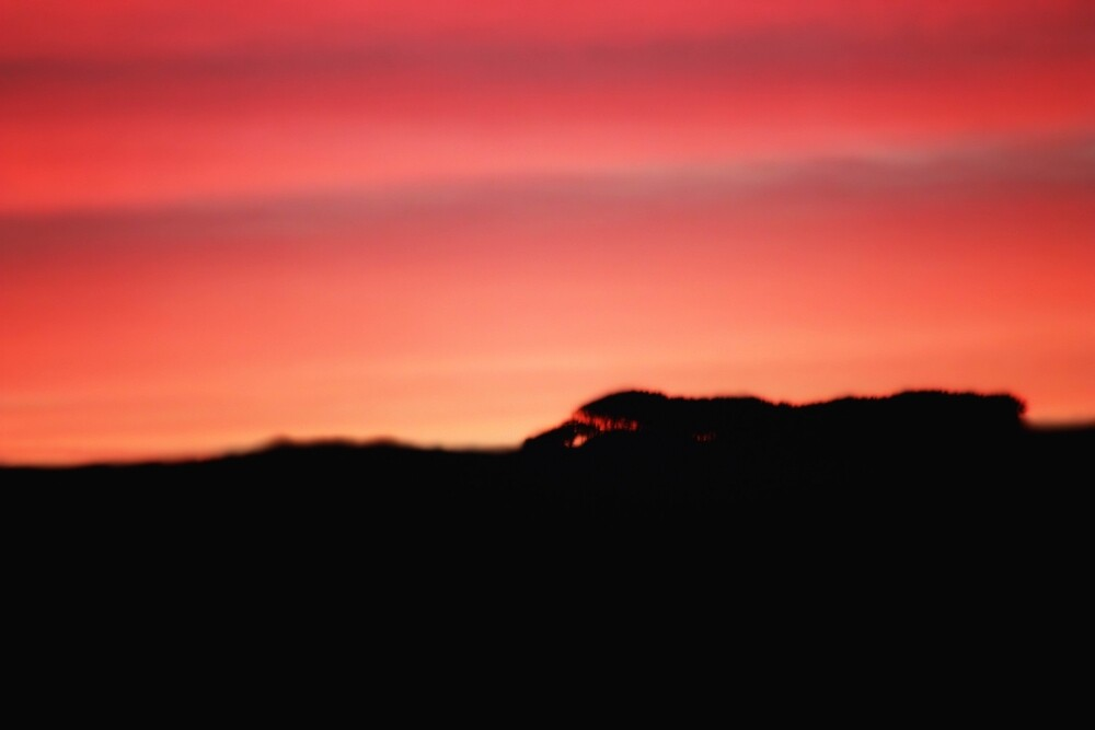 Sunset over the hills by franceslewis