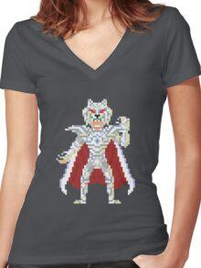 Alcor Zeta Bud - Saint Seya Pixel Art Women's Fitted V-Neck T-Shirt