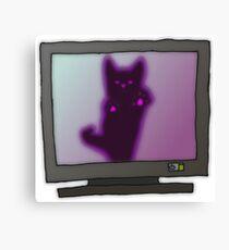 Creepy Kitty Canvas Print