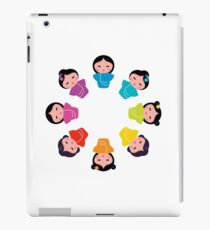 Little cute colorful Geisha characters / color variants and asia look iPad Case/Skin