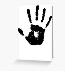 The Elder Scrolls - Dark Brotherhood Symbol (Black) Greeting Card