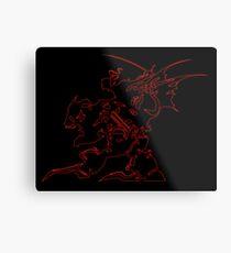 ° FINAL FANTASY ° Final Fantasy VI Neon Logo Metal Print
