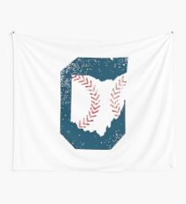 Cleveland Ohio Baseball Wall Tapestry