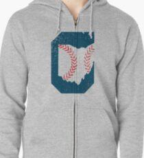 Cleveland Ohio Baseball Zipped Hoodie