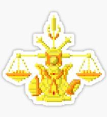 Libra Armor - Saint Seya Pixel Art Sticker