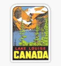 Lake Louise Alberta AB Canada Vintage Travel Decal Sticker