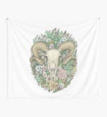 Life's Mystery: Ram Skull. Colored Version Wall Tapestry