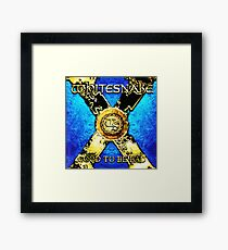 WHITESNAKE TOURS 3 Framed Print
