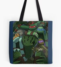 TMNT in the box (color) Tote Bag