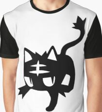 Litten Black Graphic T-Shirt