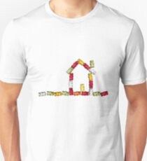 coloured jellybabies formed as a house T-Shirt