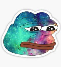 Dank Spicy Pepe Galaxy Sticker