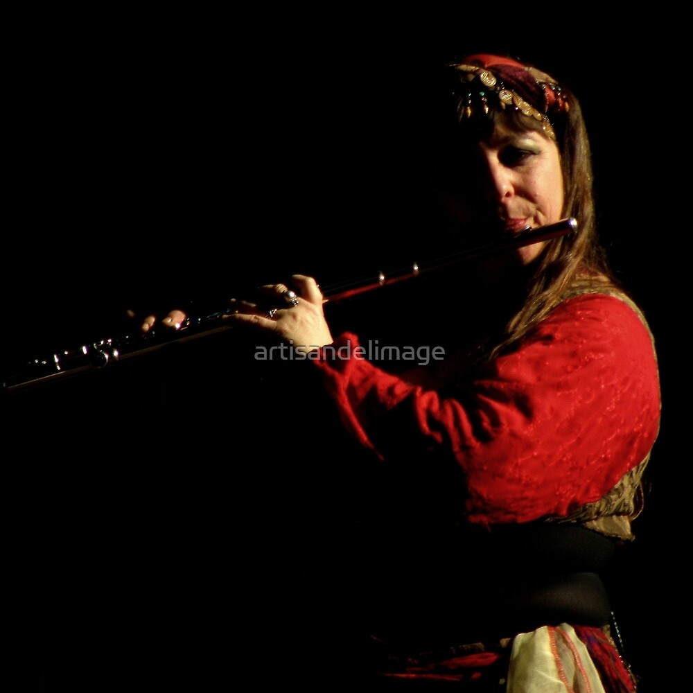 Renaissance Encounters : The Flautist by artisandelimage