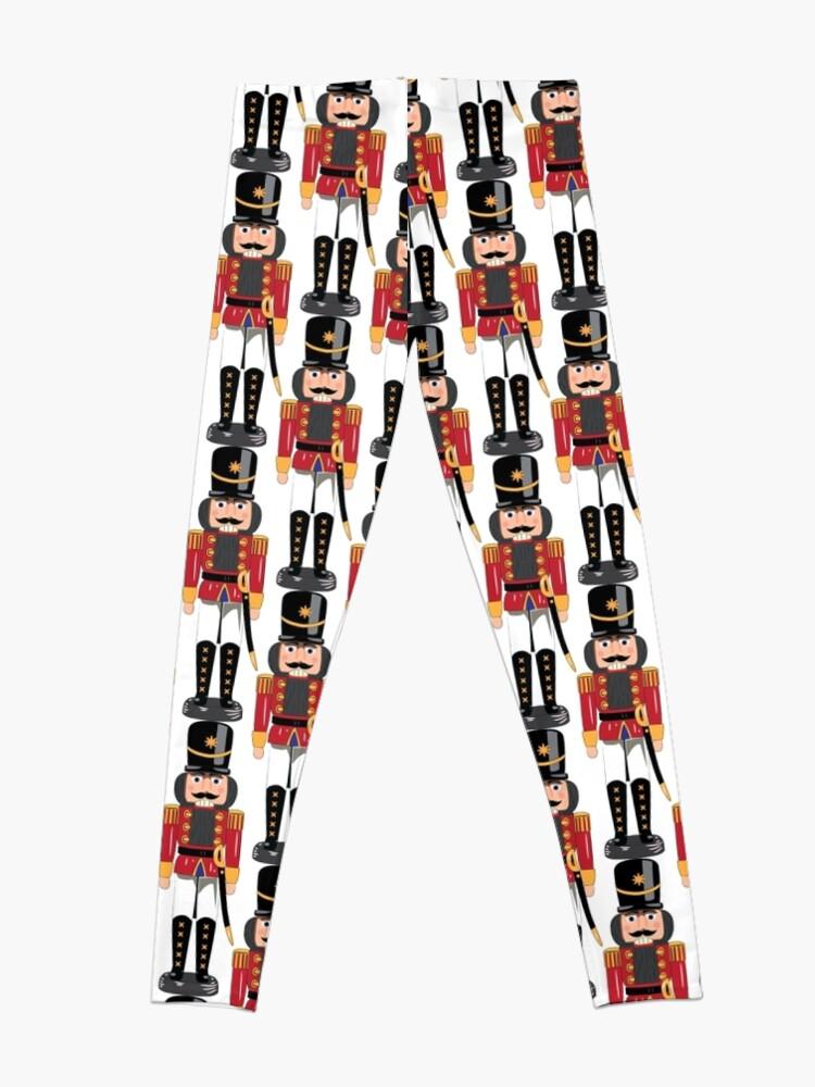 Alternate view of Christmas nutcracker soldier Leggings