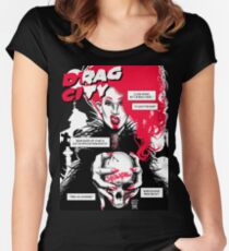 Drag City - Sharon Needles Women's Fitted Scoop T-Shirt