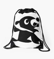 Popplio Black Drawstring Bag