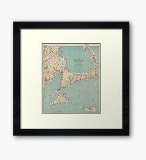 Vintage Map of Cape Cod (1917)  Framed Print