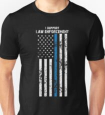 Law Enforcement Flag Unisex T-Shirt