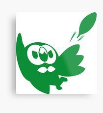 Rowlet Green Metal Print