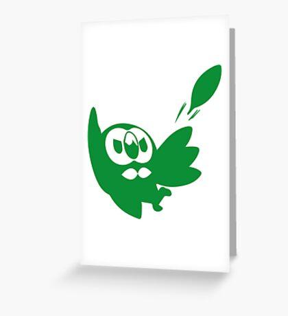 Rowlet Green Greeting Card