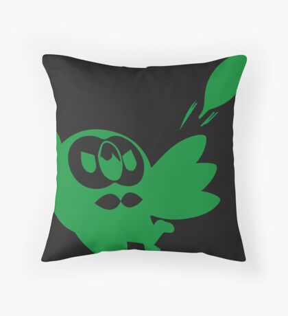 Rowlet Green Throw Pillow