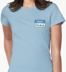 Hello My Name Is Starbuck Women's Fitted T-Shirt
