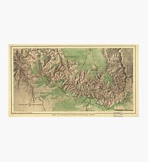 Vintage Map of The Grand Canyon (1926) Photographic Print