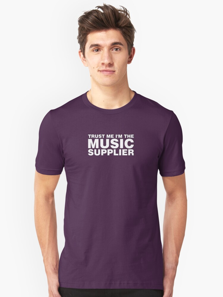 Music supplier (white) Unisex T-Shirt Front