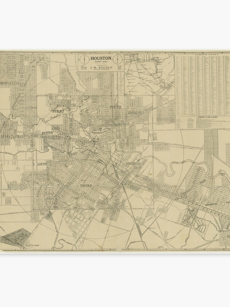 Downtown Houston Map on