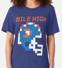 Broncos - Mile High 8 Bit Slim Fit T-Shirt