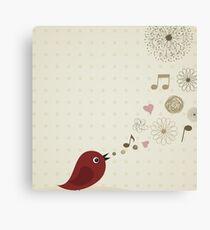 Birdie sings Canvas Print