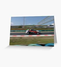 Renault Clio Cup Greeting Card