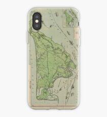 Vintage Map of Marthas Vineyard (1913) iPhone Case