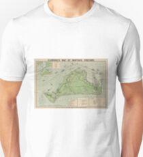 Vintage Map of Marthas Vineyard (1913) Unisex T-Shirt