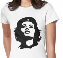 Girls to the front! Womens Fitted T-Shirt