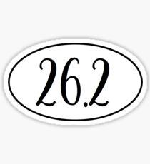 marathon- 26.2 Sticker