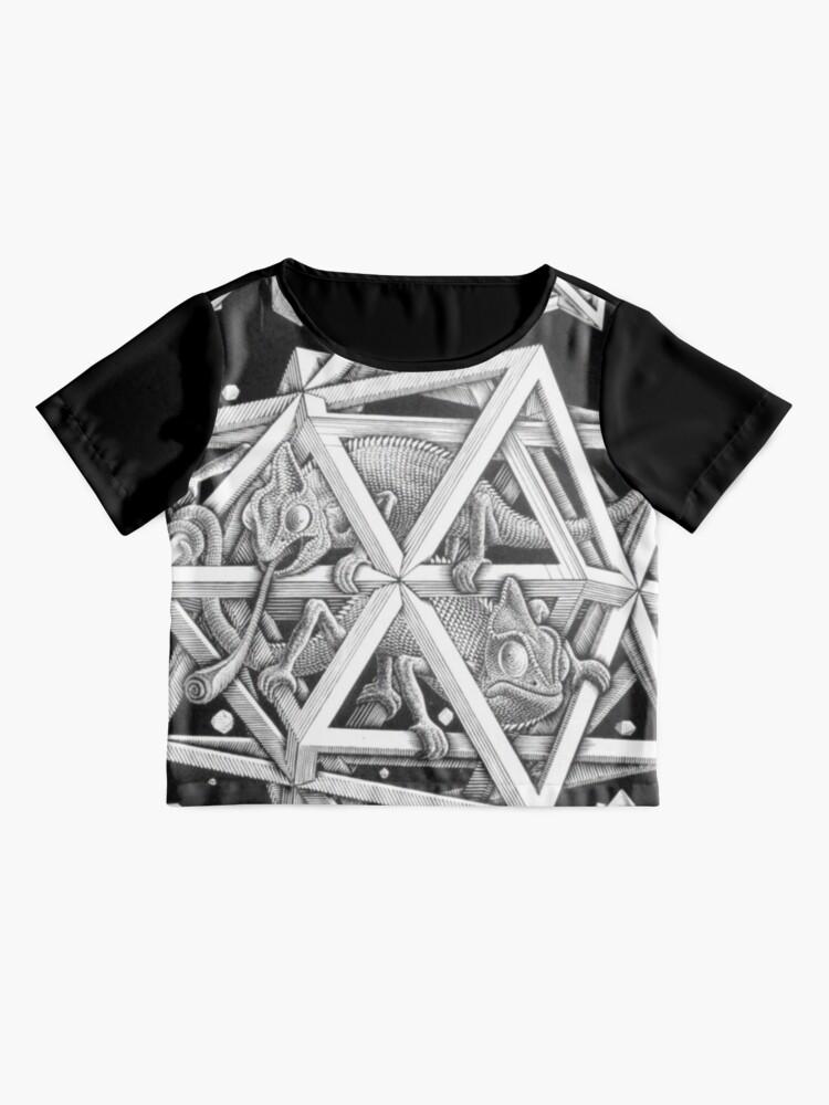 Alternative Ansicht von MC Escher Halbton Chiffon Top