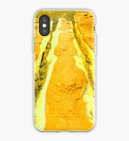 Riverbed in Amber iPhone Case