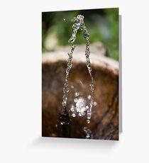 water gushing Greeting Card