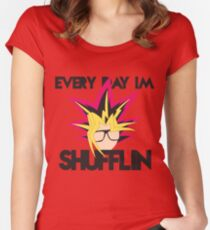 Every Day I'm Shufflin' Women's Fitted Scoop T-Shirt