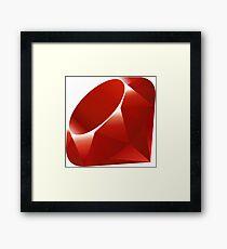Ruby - Programming Language Logo Framed Print
