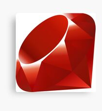 Ruby - Programming Language Logo Canvas Print