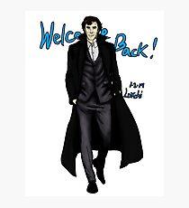 Sherlock Returns! Photographic Print
