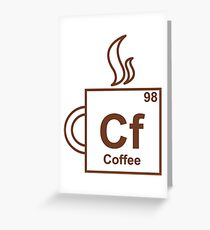 Coffee Element Greeting Card